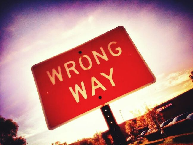 Wrong Direction Wrong Way Hanging Out Check This Out Taking Photos Illinois Chicago Warning Sign