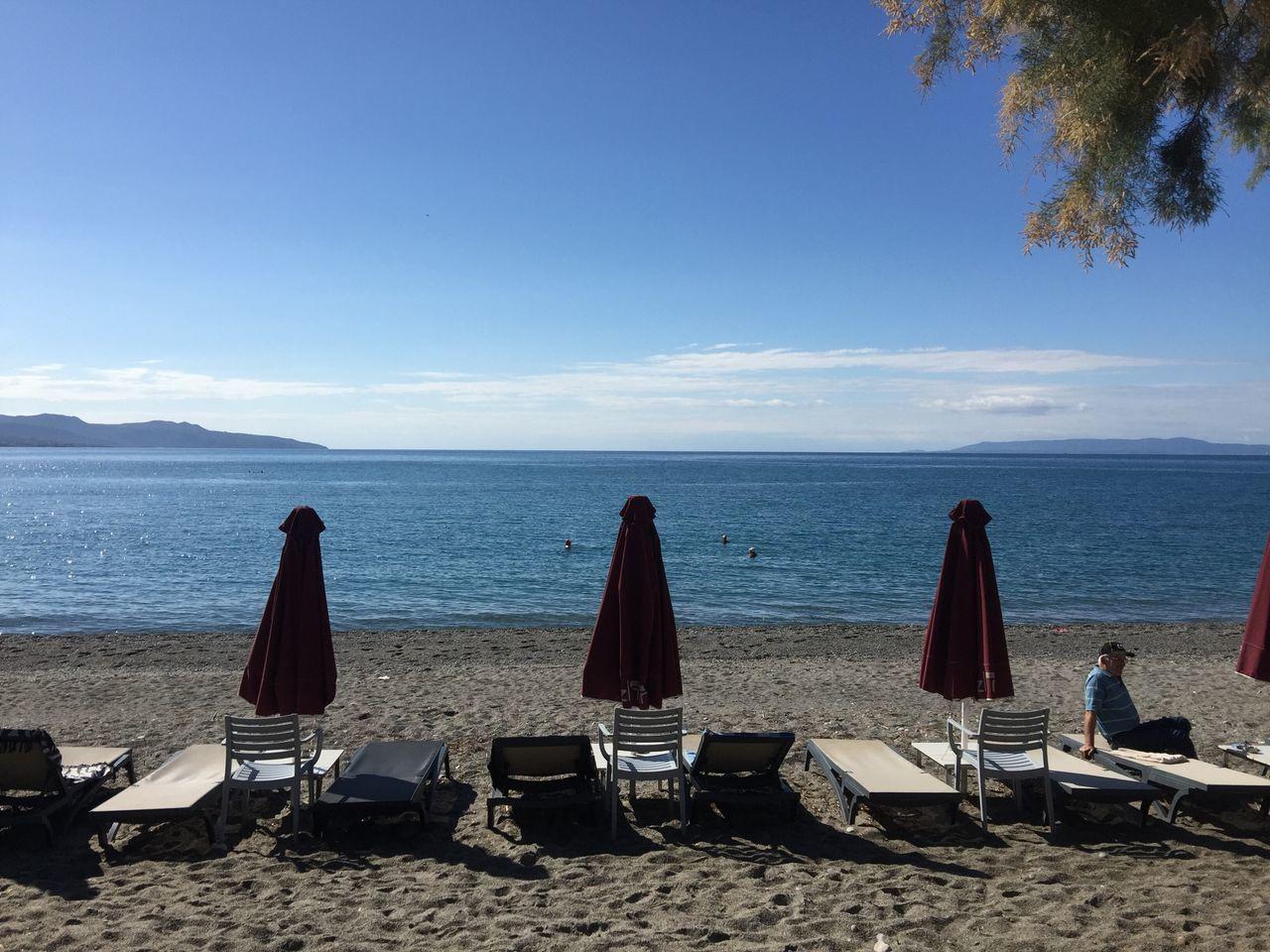 To warm you up till next summer. Greece Photos Kalamata Beach Sea Scenics Tranquil Scene Relaxation Blue Water Sand Sun Sky Peloponnese