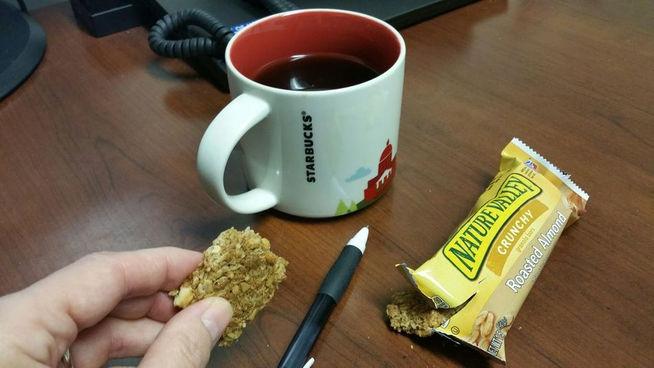 Liquid Lunch The Purist (no Edit, No Filter) Lunch Granola Bar Almondroasted Granola 2 Favorite Things 1 Photo Best Liquid To Keep Going Coffee! Who Gets Lunch!!! Granola Cupcoffee Anytime Starbucks Nature Valley Liquid Beverage
