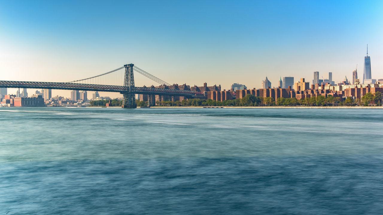 Beautiful stock photos of america, Architecture, Blue, Bridge - Man Made Structure, Brooklyn Bridge