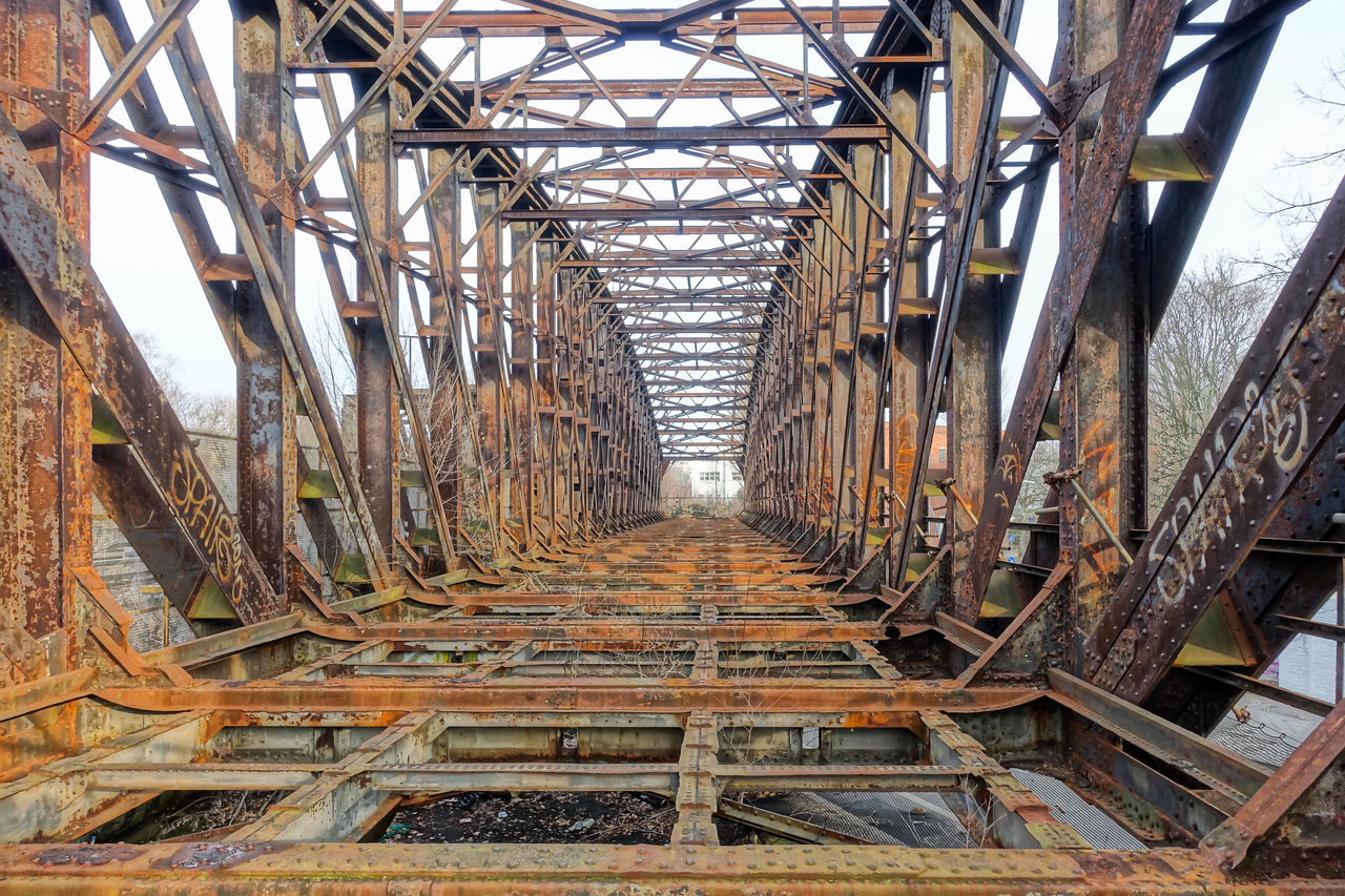 Abandoned Abandoned Places Bridge Bridge - Man Made Structure Damaged Metal Old Ruined Rust Rusty