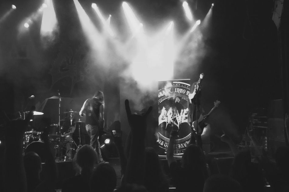 .::Grave::. Dark Live Music DCLXVI MADE IN SWEDEN Death Metal People Watching Black And White Blackandwhite Music