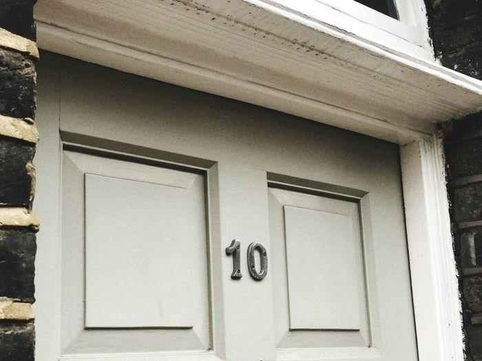 Door Built Structure Architecture Building Exterior House Number Flat Number Front Door House Ten Number 10 Number Ten White Door Front Door