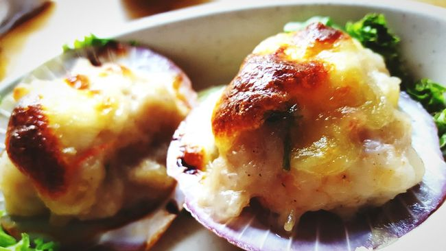 Cheesy scallops Check This Out Hello World My Capture  The Week Of Eyeem Fresh On Eyeem  Eyeem Photography My Point Of View Cheesy Scallop Cheese Baked Seafoods 43 Golden Moments Yummy Yummy In My Tummy Tasty Yum Yum The 00 Mission