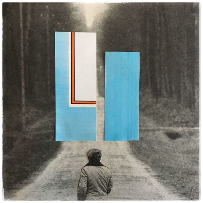 Blue Day Forest Geometric Abstraction Geometric Shape Geometry Lost Lostplace Meeting One Person Outdoors Passage Path Pathway People Person Real People Sentier UFO
