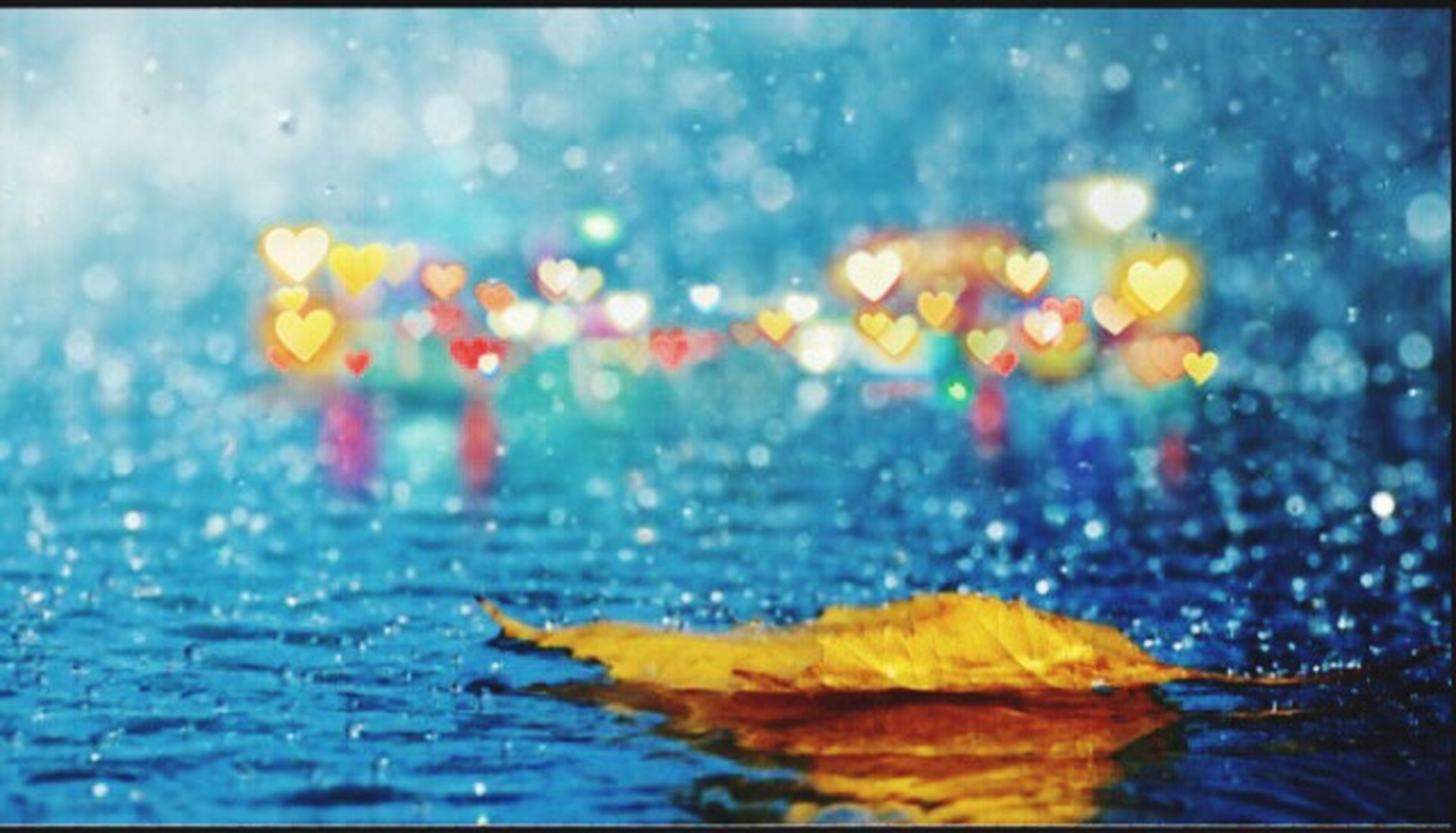 water, autumn, waterfront, close-up, wet, fragility, multi colored, selective focus, nature, reflection, yellow, season, focus on foreground, orange color, auto post production filter, beauty in nature, change, no people, drop, floating on water