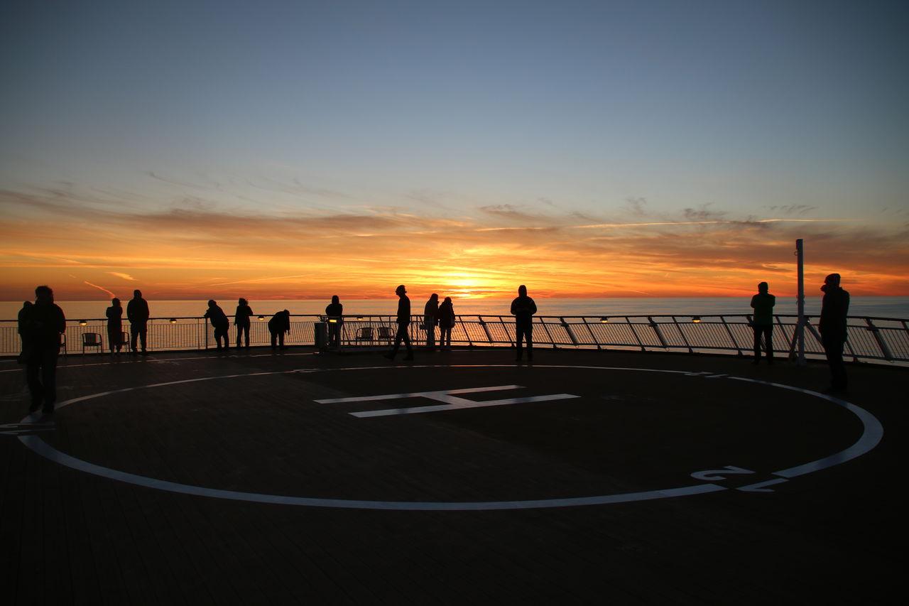 Sunset Outdoors Sea People Shiplife