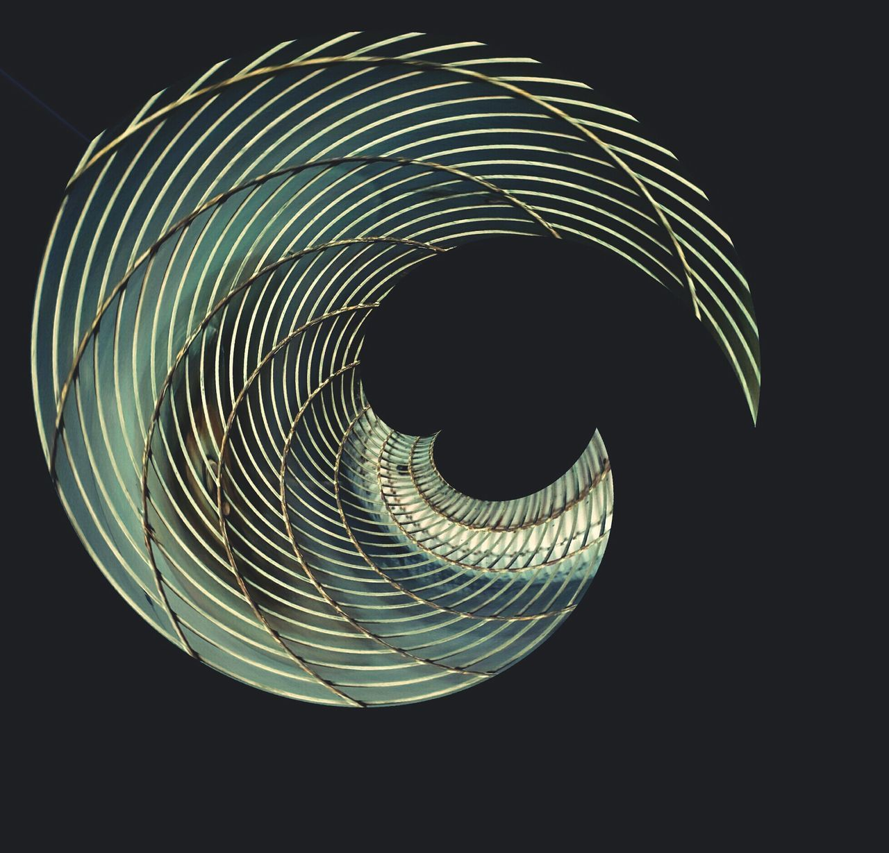 Spiral Ideas Black Background Glowing Curled Up Darkroom Concentric Creativity Dark Geometric Shape Circular Electric Light Curve Art Product Bright Vibrant Color