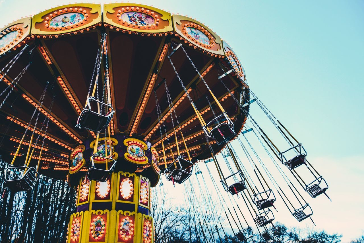 Beautiful stock photos of moscow, Amusement Park, Amusement Park Ride, Arts Culture And Entertainment, Chain Swing Ride