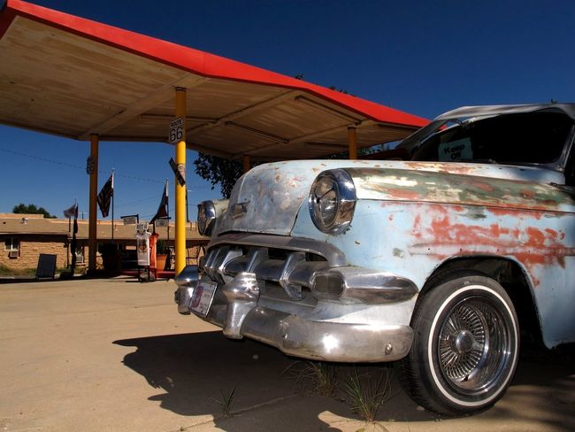 Gas Station Oldtimer Car Rusty Route 66