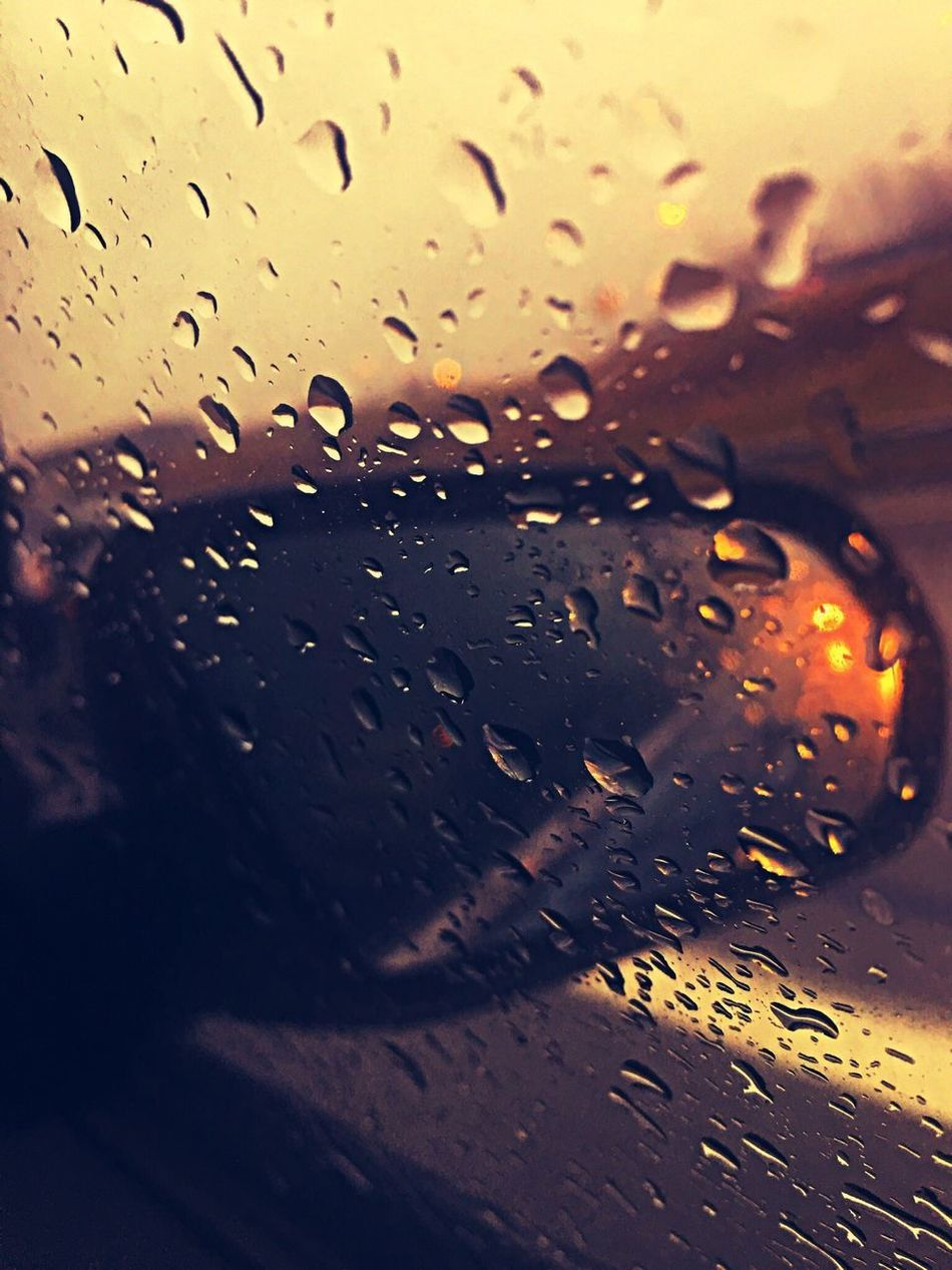 Rain Raindrops Review Mirror