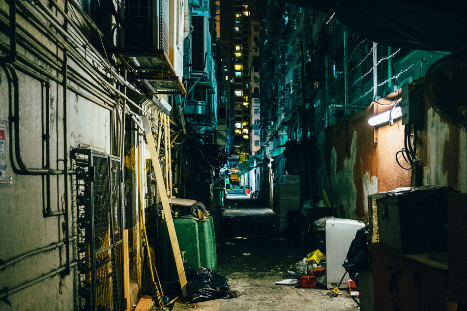 Alley Architecture Building Exterior Built Structure City City Life Illuminated Night Night Lights No People Outdoors