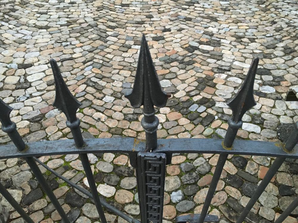 No Filter, No Edit, Just Photography Gate Iron Pointed View From Above Angles And Views Pavement No Entry Arrows Pavement Patterns A Bird's Eye View