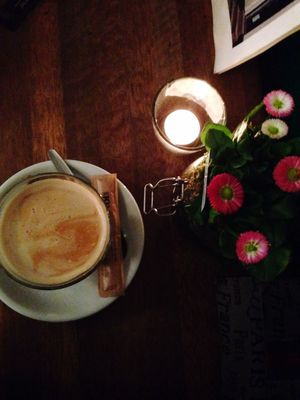 Coffee Flowers Chatting Candle Friendship International