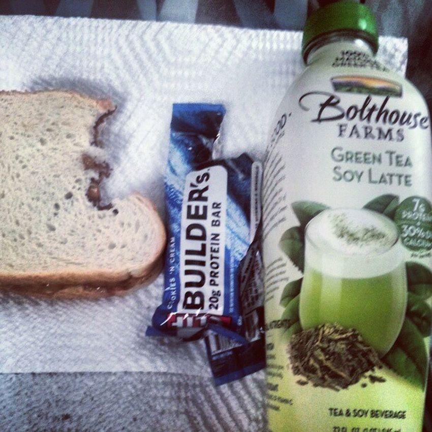 Lunch. Nutella Peanutbutter Sandwich CookiesNcream proteinbar greenteasoylatte BolthouseFarms