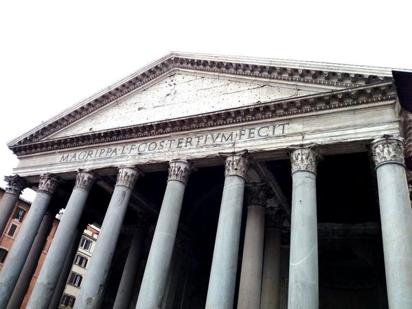 Architectural Column Architecture Built Structure Building Exterior History No People Outdoors Day Roma City Sky Pantheon