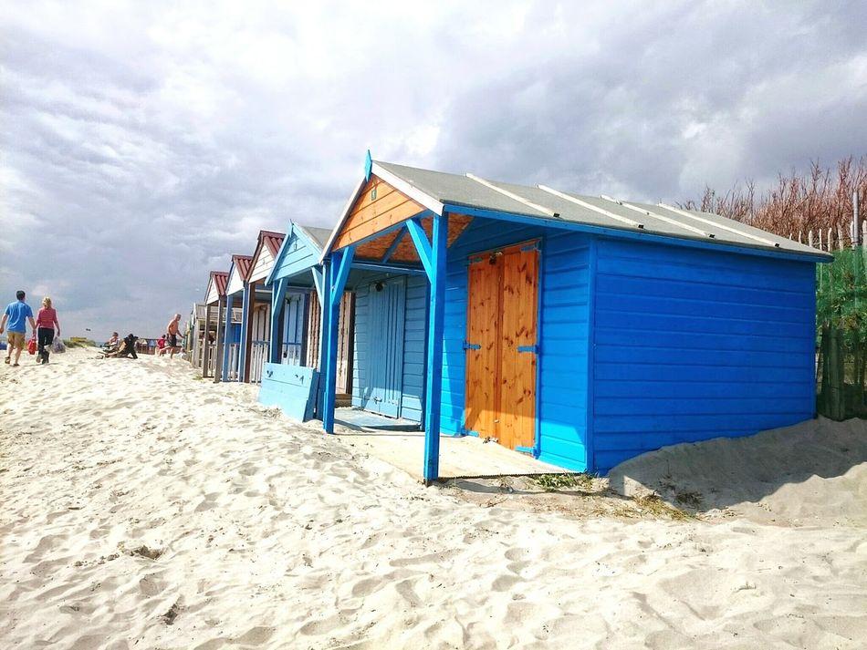 Sand Beach Multi Colored Sky Beach Hut Chichester Harbour