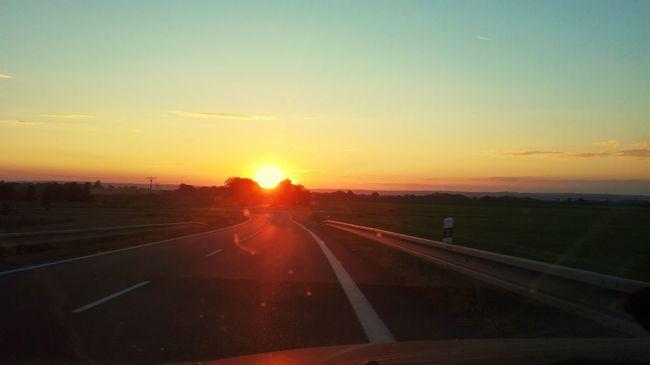 Sunset Sun Landscape Road Cloud - Sky