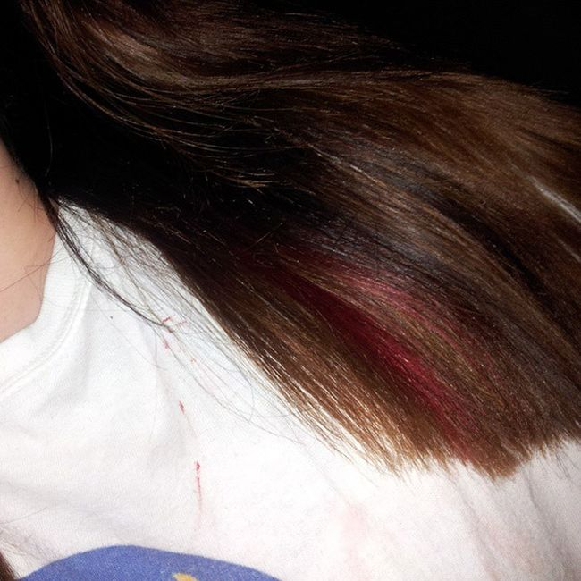 Redstrand debating whether just to do all red or just leave my ombre the way it is... Harddecision