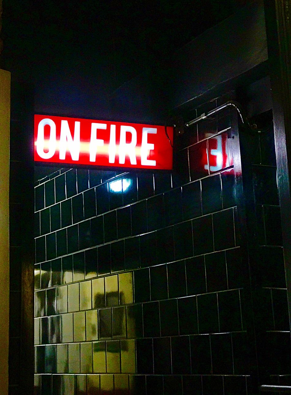 Illuminated No People Hospital Built Structure Indoors  Night Architecture On Fire Onfire Onfire🔥 On Fire 😁 Sign Guerrin, La Mejor Pizza De Buenos Aires Guerrin