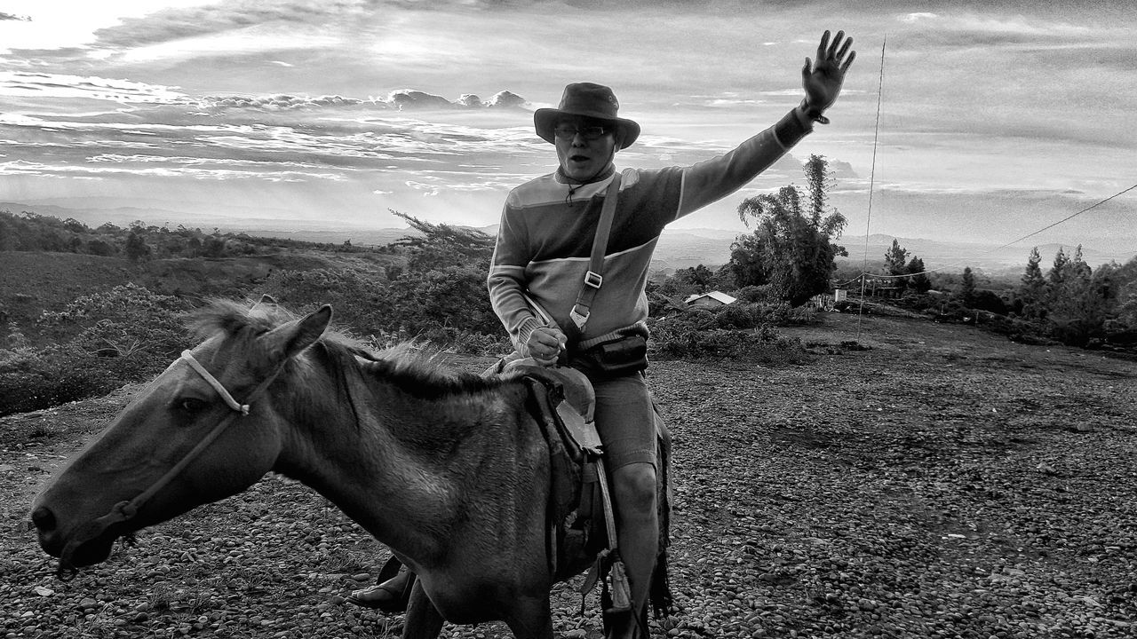 Horse Riding Horse Photography  Riding Horses Cowboy Horseback Riding Horseback Horseback Riders Country Country Living Black & White Black And White Black And White Photography Travel Photography Travel Diaries Trying New Things Cowboy Hat Cowboy Hats  Cowboy Country Cowboy Style DahilayanForestPark Dahilayan Dahilayan Bukidnon Bukidnon Rural Scene Rural Scenes