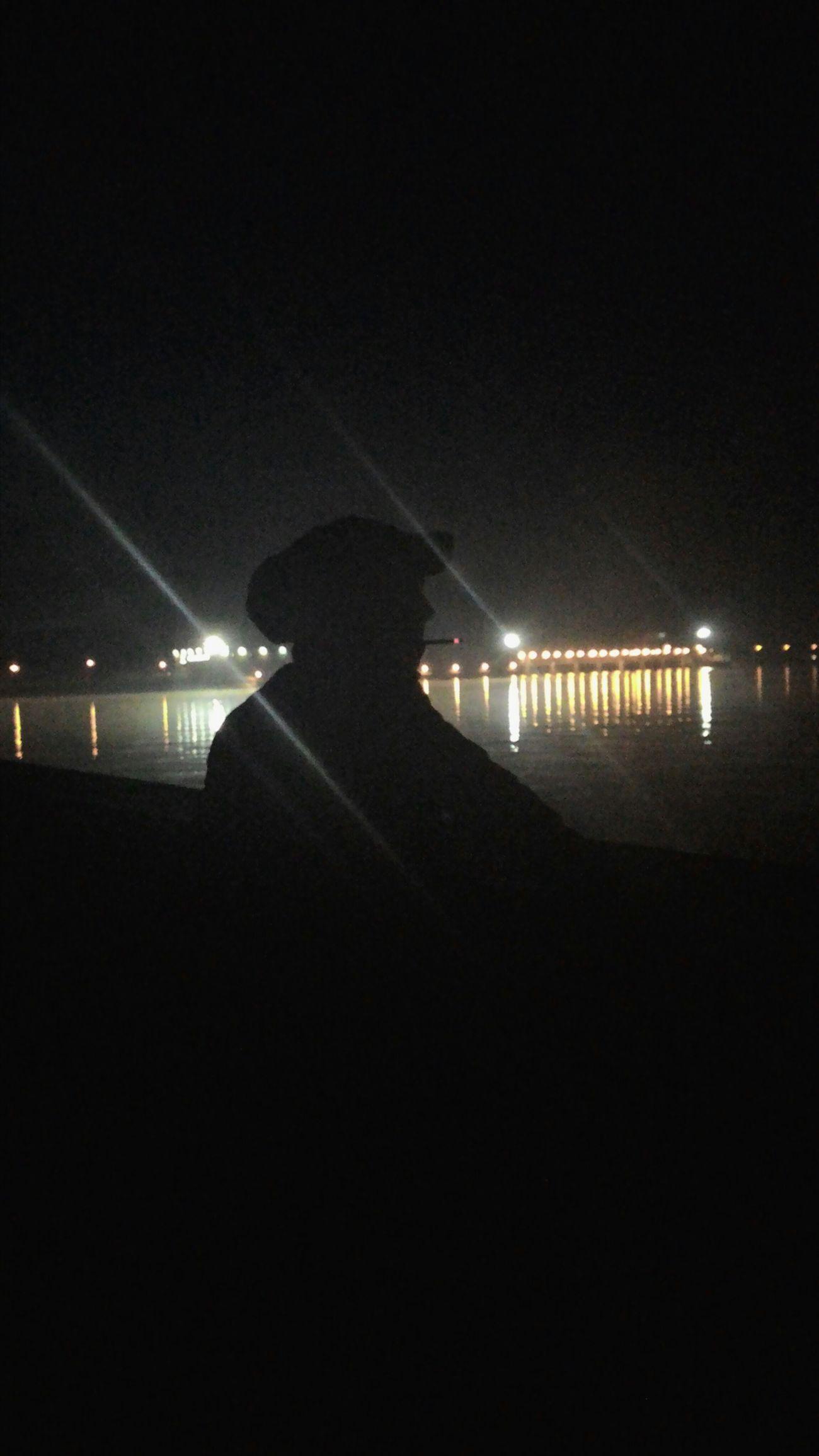 Smoking Night Relaxing Lonely