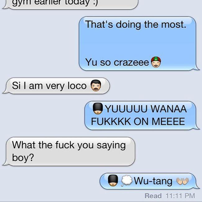 Our combo last night haha @juliescreetz Random Weird WTF Whatwasisaying emoji azn asian mexican brown boy