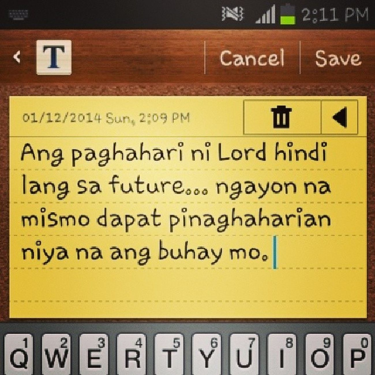 Kingdom citizen Instaquote Printscreen