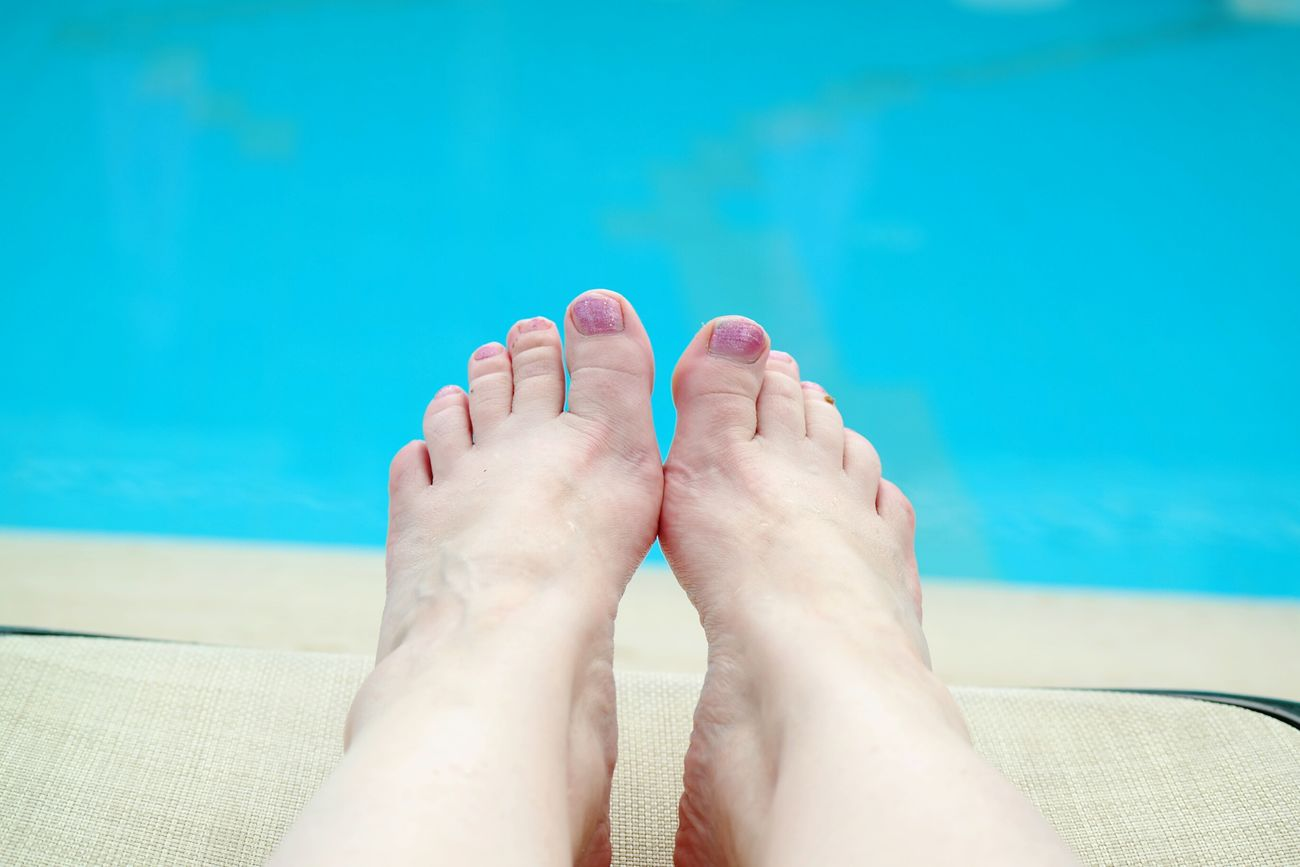 Vacation Time Swimming Pool Holiday Feetselfie Feets My Feets