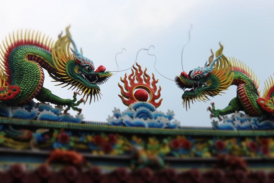 Beautiful stock photos of dragon, Animal Representation, Architectural Feature, Architecture, Built Structure