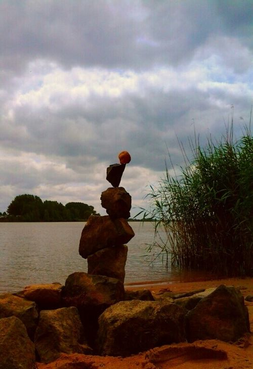 Gravity Glue My Handmade Artwork I Love Rockbalancing I Love Playing In The Sand Playing With Rocks Amazing Architecture The Architect - 2015 EyeEm Awards