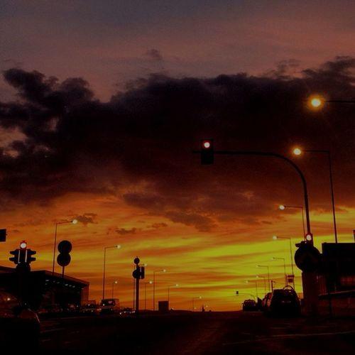 Traffic Lights Sunrise Greece