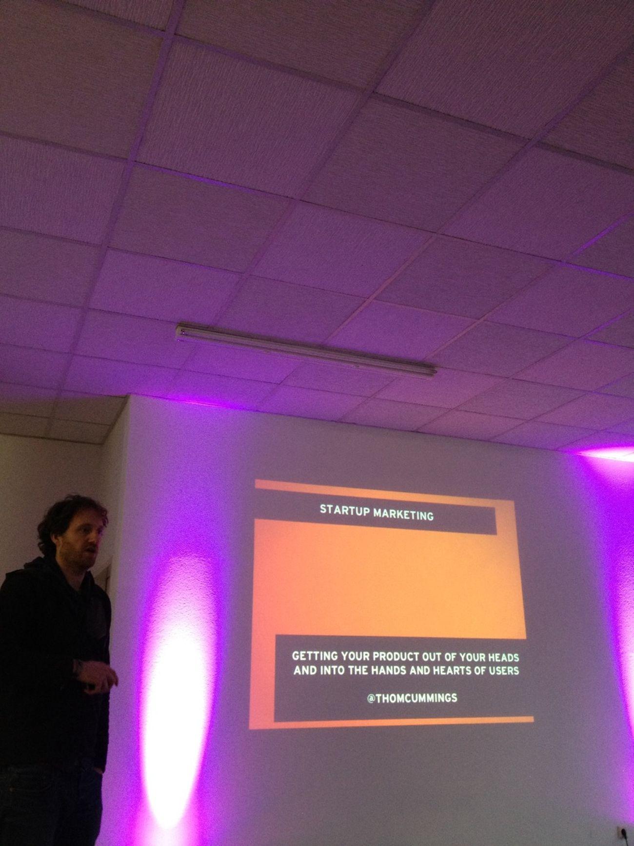 Thom Cummings Teaching A Marketing Class