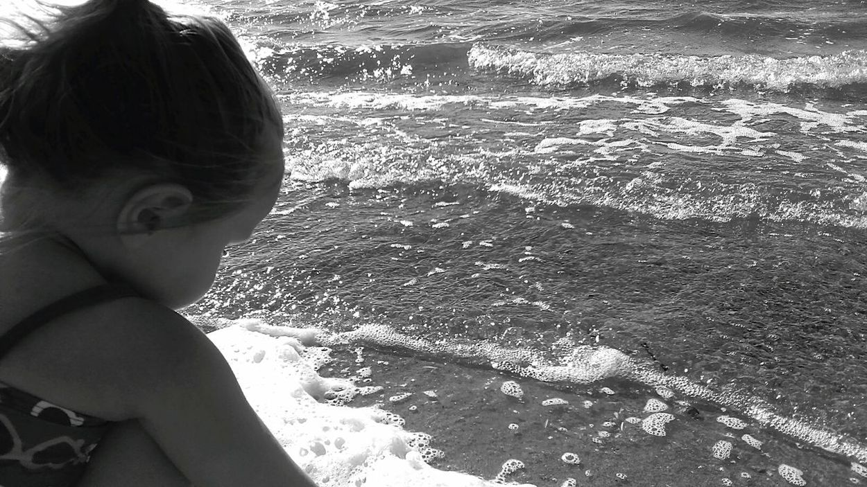 Showcase July Day At The Beach Beautiful Day Fun In The Sun Lovingthemoment Lovefamily Beautiful Girl Warm Weather Summer Days Waves Crashing Childhood Memories Enjoying Life Playing In The Sand Blackandwhite Outdoor Photography Waves