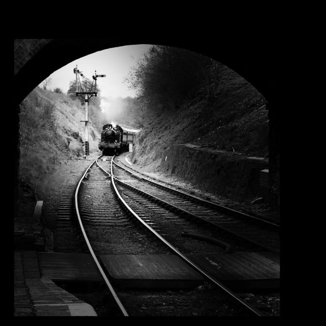 Eyeforphotography Eye4photography  Shootermag Blackandwhite Mono Landscape Tracks Train