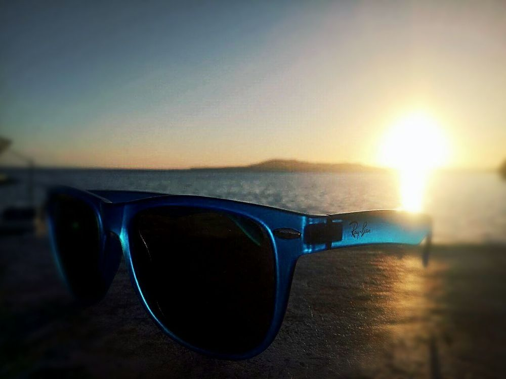 Outdoors Sunglasses Sunset Reflection Eyewear Water Sea Summer Bohol, Philippines Afternoon Beach BACLAYON First Eyeem Photo
