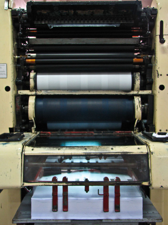 Blanket Indoors  Machine No People Offset Machine Old Paper Printing Printing Machine Rollers