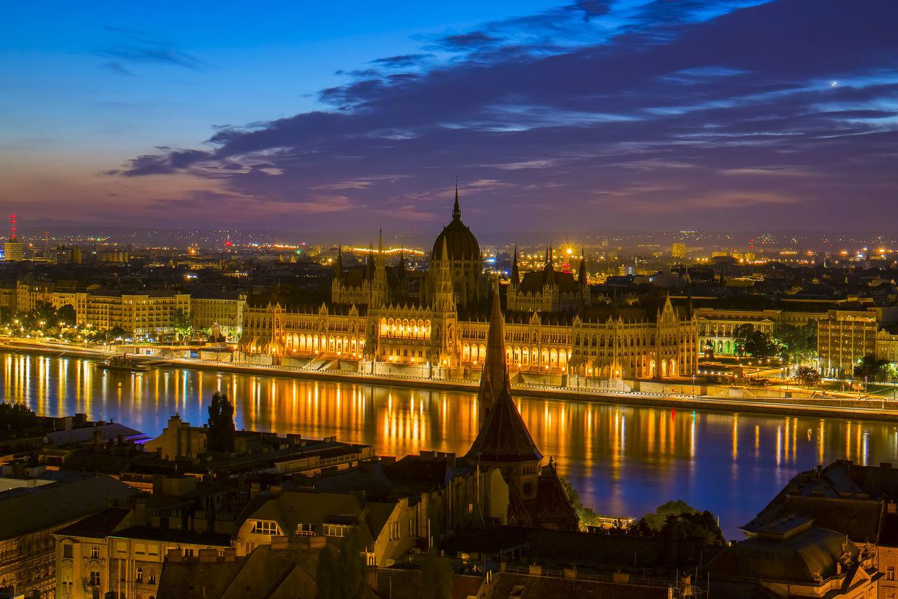 Parliament sunrise Architecture Bluehour Budapest Cityscapes Danube Hungary Landscape Morning Parliament Reflection Riccsi River Sunrise