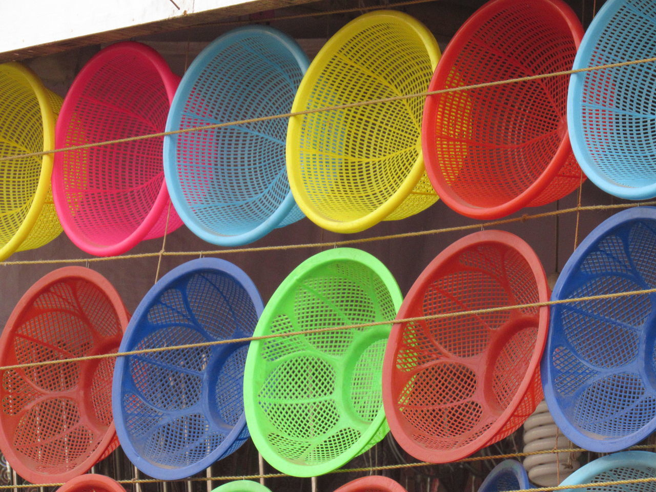 Bucket Day Layers Layers And Colors Multi Colored No People Outdoors Red Stall