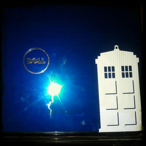 My TARDIS blue laptop died Friday night but regenerated this morning. #Drwho