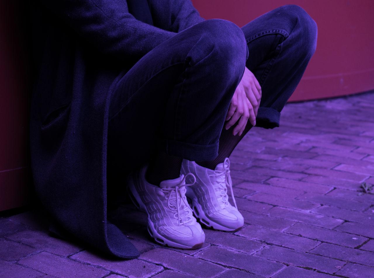 MARISSA LEE 0711 Adults Only Constantinschiller Herrschiller Human Leg Low Section One Person One Woman Only Purple Schillergirls Sitting Social Issues Stuttgart