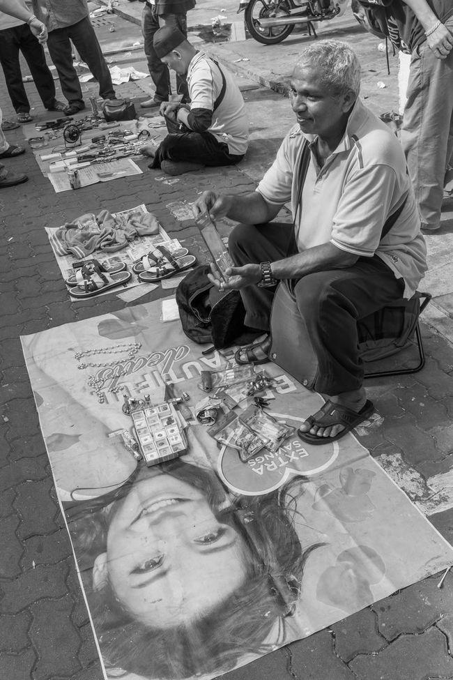 Kuala Lumpur October 1, 2016 Black And White China Town Flea Market Flea Markets Guan Di Temple Kuala Lumpur Petaling Street Street Photographer-2016 Eyem Awards Street Photography Streetphotography