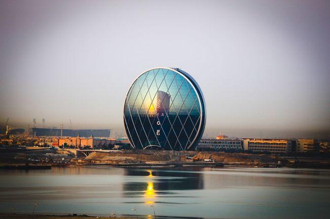 Good Morning Abudhabi Sunrise Mirror view from Yasisland
