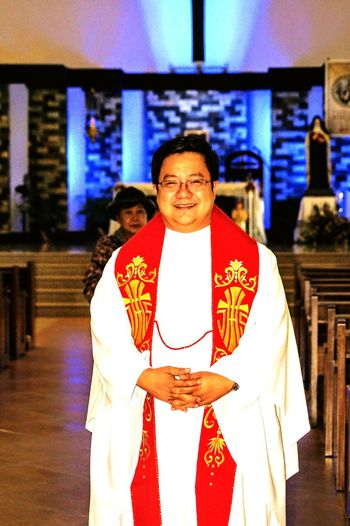 One Person Real People Religion Smiling Traditional Clothing Padre Miguel One Man Only Representing Indoors  Goodpeople Portrait Philippines Eyeem Philippines Close-up Pilipinas2017 Day Looking At Camera Padre Catholic Church Catholic CathedralMature Adult God's Glory On Display  Adults Only Adult People