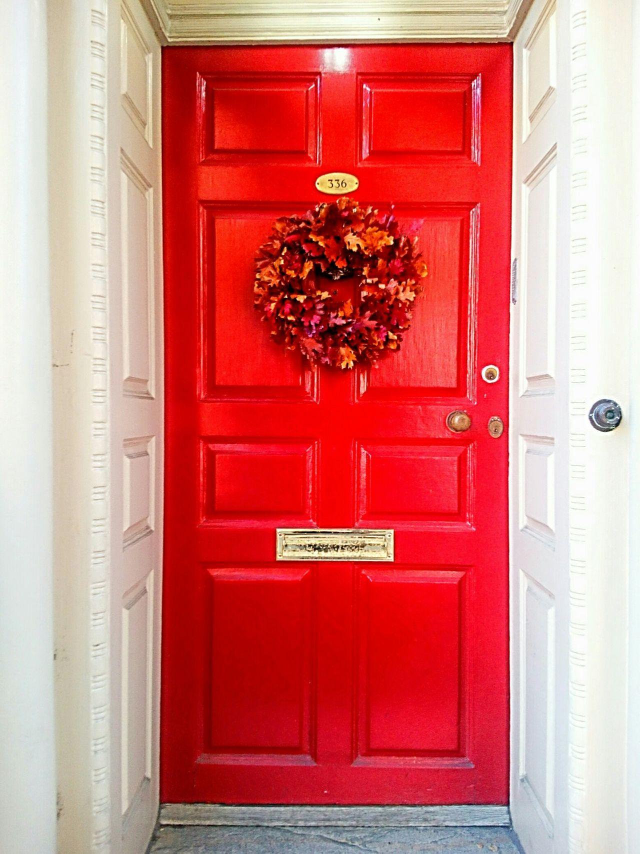 Red Door Vibrant Color Red Door Front Door Entrance Home Exterior