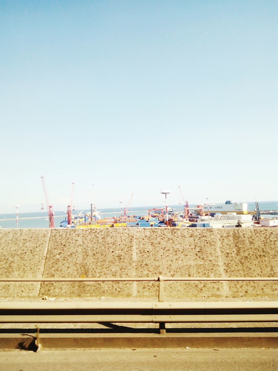 copy space, day, no people, clear sky, transportation, outdoors, industry, water, nautical vessel, technology, sky, nature