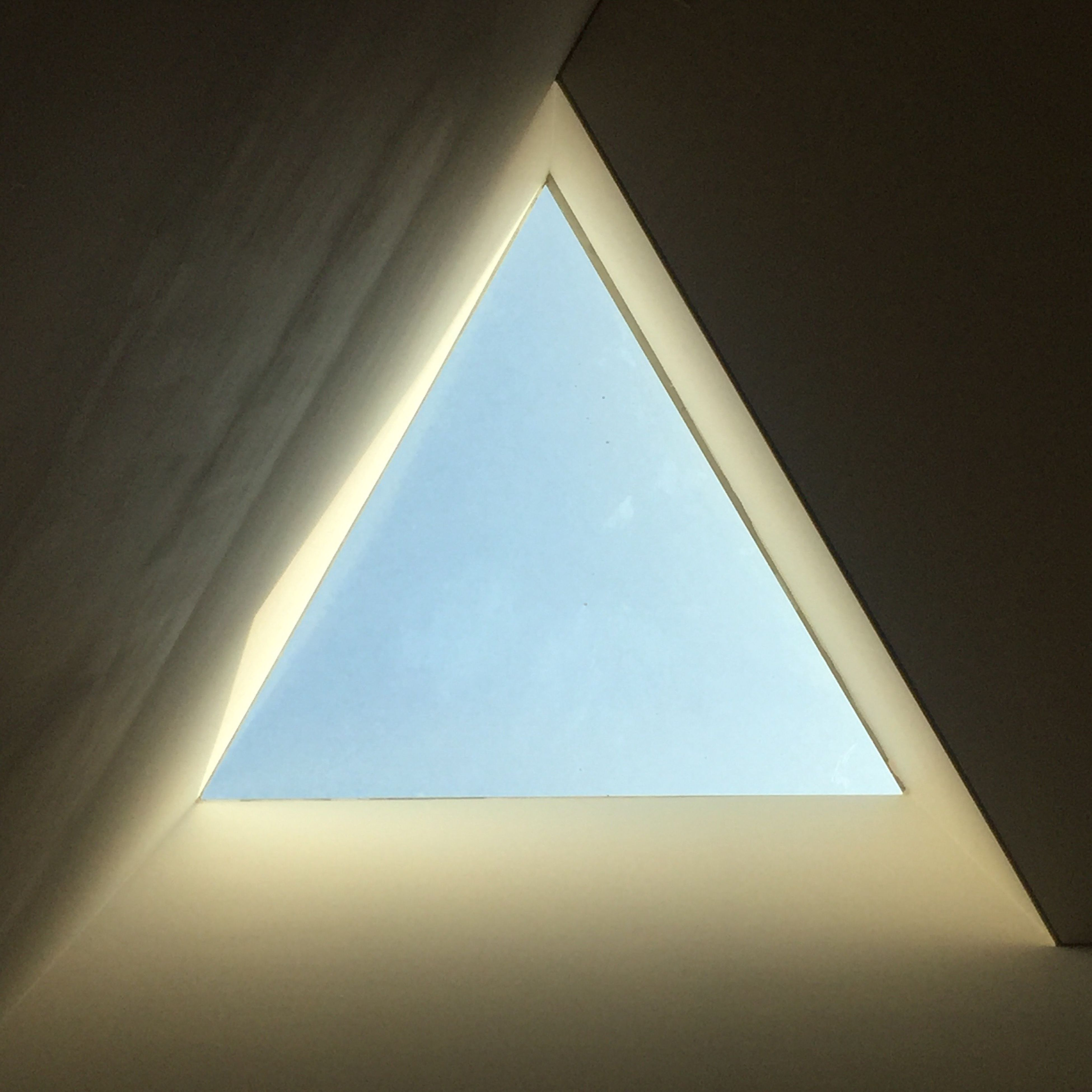 geometric shape, no people, architecture, built structure, day, low angle view, indoors, sky