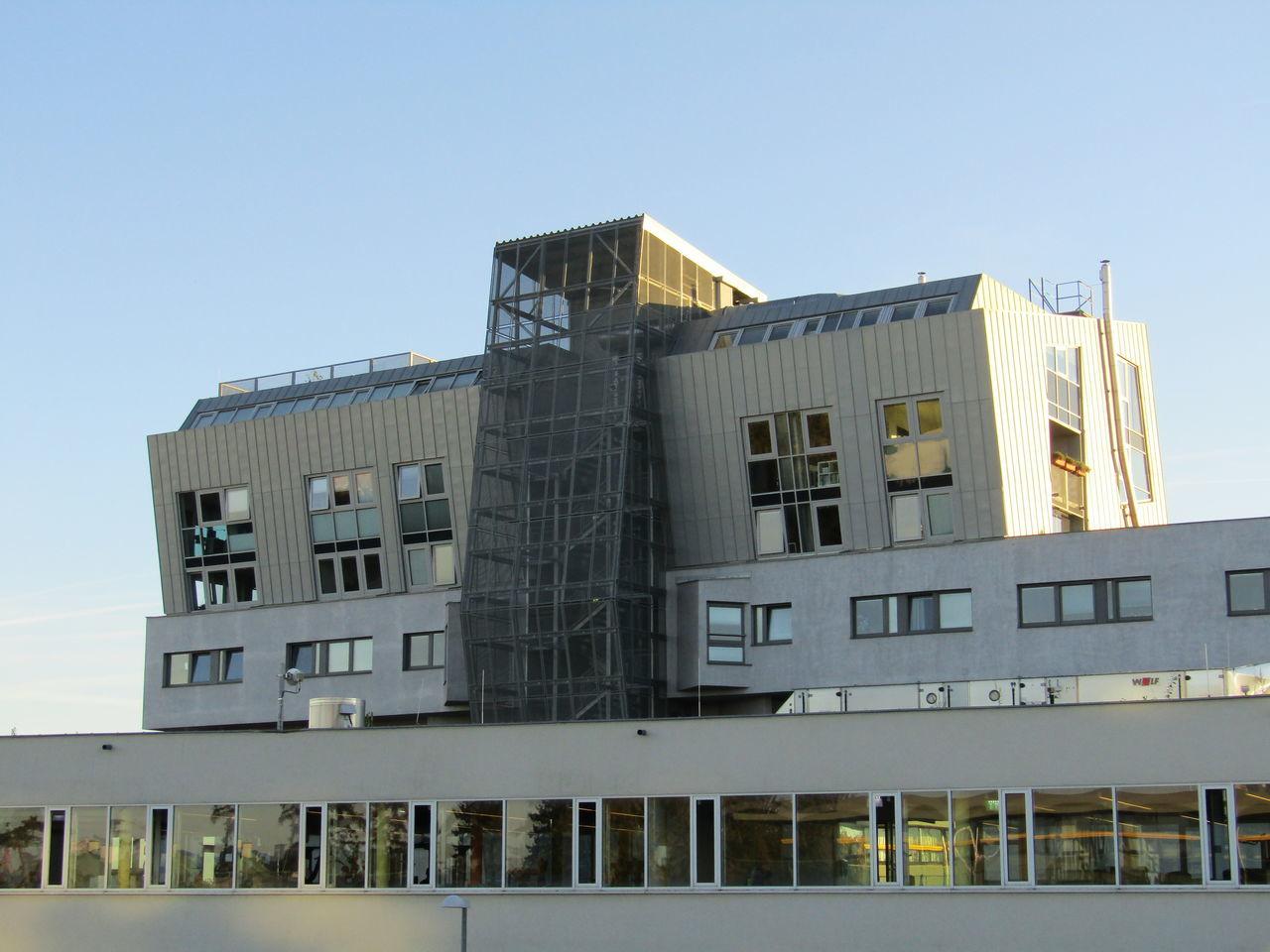 Liesing Vienna Riverside Wien Façade Geometric Shape Apartment Building Built Structure Building Exterior Architecture