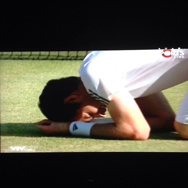 Greatest defender of all time?!?!?!?! Andymurray Champion of Wimbledon
