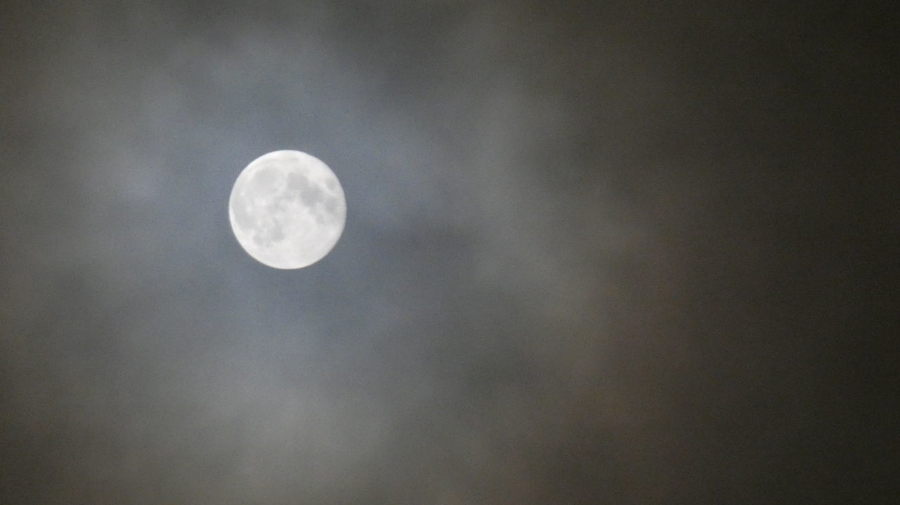 moon, astronomy, nature, beauty in nature, planetary moon, circle, scenics, tranquility, moon surface, night, tranquil scene, sky, outdoors, space exploration, no people, low angle view, cloud - sky, sky only, half moon, space